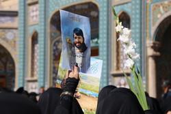 تشییع پیکر شهید محمد ابراهیم رشید در قم
