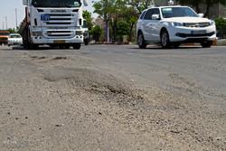 وضعیت آسفالت جاده بین المللی شهرستان میانه