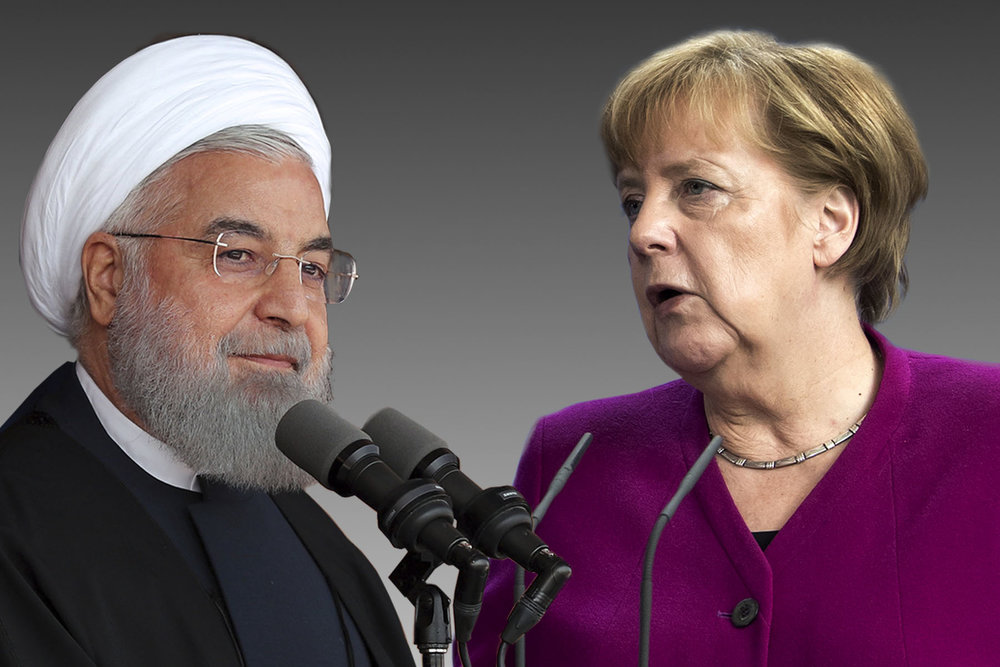 Image result for images angela merkel Rouhani