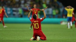دیدار تیم ملی فوتبال برزیل و بلژیک