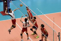 جاپان اور جنوبی کوریا کی والیبال ٹیموں کے درمیان مقابلہ