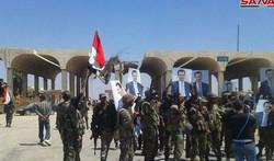 الجيش السوري ينتشر في معبر نصيب الحدودي مع الأردن