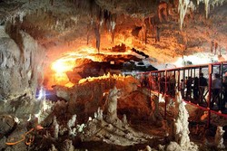 A view of Katale-Khor cave in western Iran