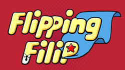 "A poster for Iranian studio Deedema's 2D adventure game ""Flipping Filip"""