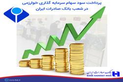 پرداخت سود سهام سرمایه گذاری خوارزمی در شعب بانک صادرات ایران