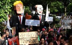 تظاهرات في بروكسل تندد بزيارة ترامب