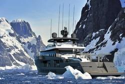 تصاویر ابر قایق تفریحی مخصوص سفر به قطب جنوب