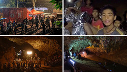 تھائی لینڈ میں غار میں پھنسے کھلاڑیوں اور کوچ کو بحفاظت نکال لیا گیا