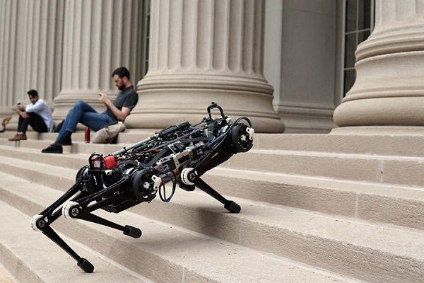 فیلم ربات نابینایی که از پله ها بالا می رود