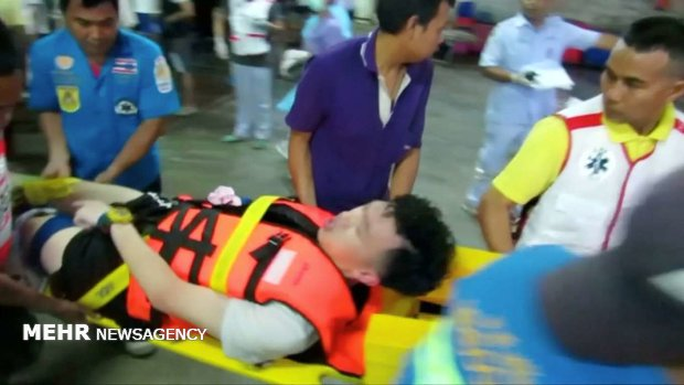 غرق قایق گردشگران در تایلند