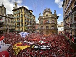 احتجاجات حاشدة فى شوارع برشلونة
