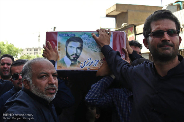 تشييع جثمان الشهيد محمد عزيزي