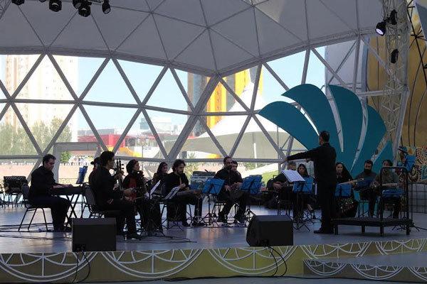 ارکستر سازهای ملی در قزاقستان اجرا کرد/ قدردانی از فخرالدینی
