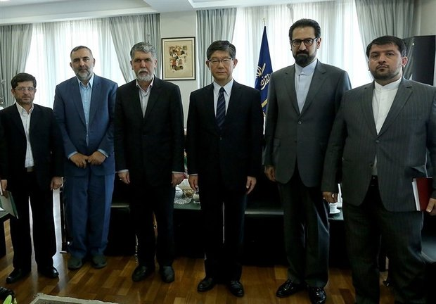Culture minister, Japanese ambassador meet in Tehran