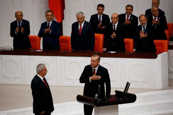 انطلاق مراسم تنصيب أردوغان رئيسا لتركيا
