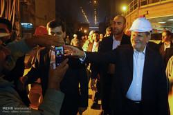 Jahangiri inaugurating steel projects in Isfahan