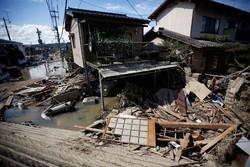 خسارات سیل در ژاپن