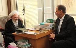 معاون اول رئیس جمهور با آیت الله ناصری دیدار کرد