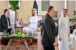 پمپئو از امارات به دلیل همکاری برای مقابله با ایران تشکر کرد!