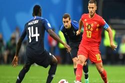 دیدار تیم های ملی فرانسه و بلژیک