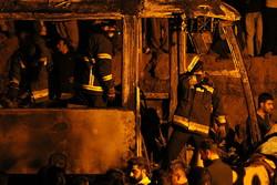 مصرع 13 مواطنا في حادث  اصطدام حافلة ركاب وصهريج ناقل للنفط  في سنندج