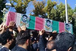 تشييع جثمان الشهيد عامريون في مدينة شاهرود
