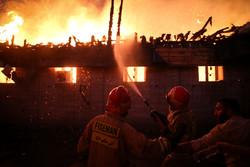 آتش سوزی در برج یک بلوار ارتش ۲ مصدوم بر جا گذاشت