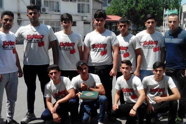 ۹ بوکسور جوان گیلانی به مسابقات قهرمانی منطقه ۲کشور اعزام شدند