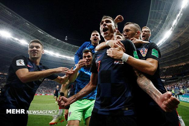 دیدار تیم های ملی فوتبال انگلیس و کرواسی