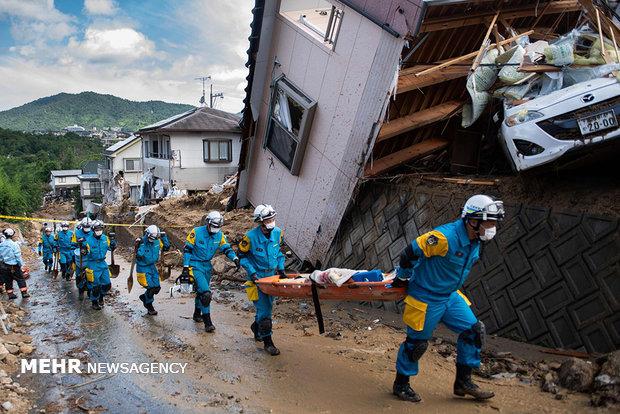 خسارات فراوان طوفان مرگبار در ژاپن