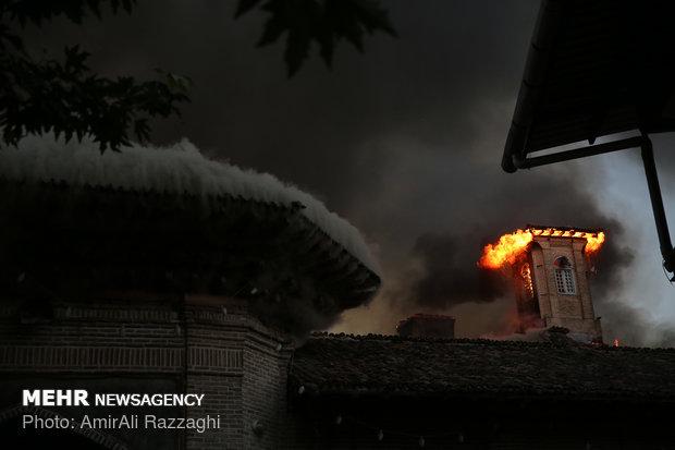 Oldest mosque in Mazandaran catches fire