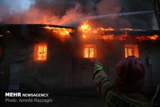 آتش سوزی در مسجد جامع ساری