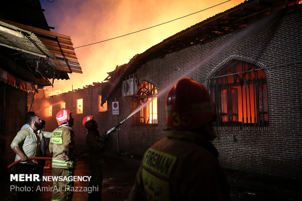 Oldest mosque in Mazandaran catches fire