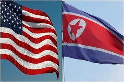 پرچم آمریکا و کره شمالی