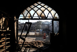 Fire of Mazandaran's oldest mosque extinguished