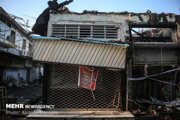 Fire of Mazandaran's oldest mosque extinguished