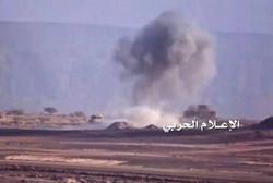 قتلى وجرحى اثر استهداف القوات اليمنية مخزن امداد عسكري تابع للتحالف السعودي