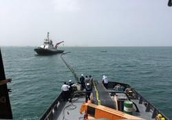 عملیات مقابله با آلودگی نفتی در بندر چابهار