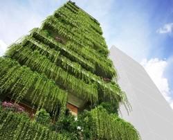تصاویر طرح اولیه برج ۷۲ متری پوشیده از گیاهان
