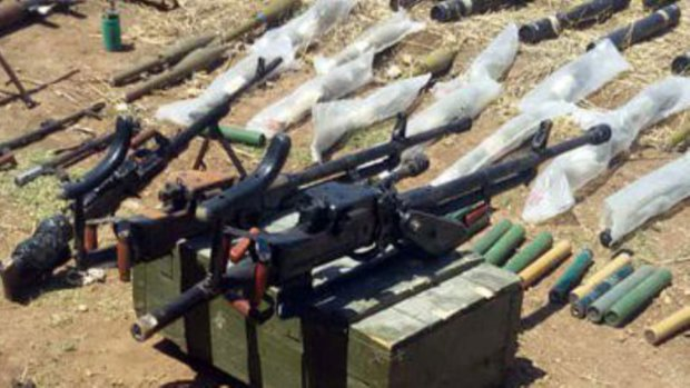 Western-made ammunition, weapons seized in Hama Countryside
