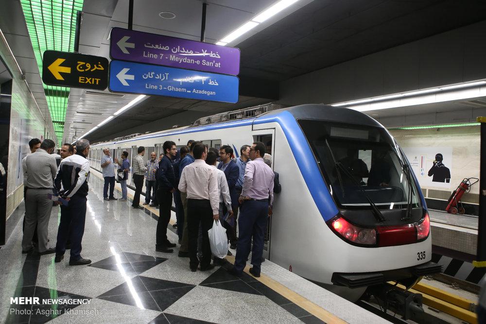افتتاح بخشی از خط هفت مترو