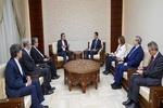 الرئيس السوري يلتقي بجابري أنصاري في دمشق