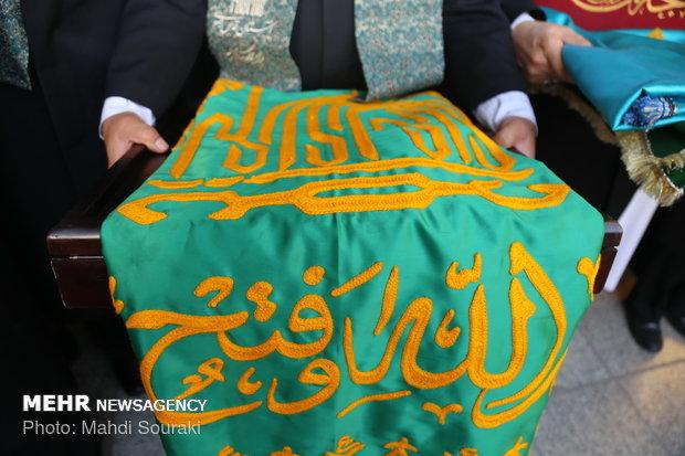 مراسم إستبدال علم قبة السيدة معصومة (س)