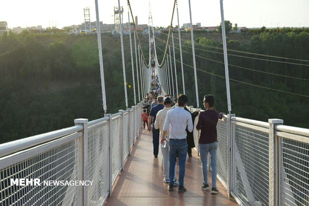 Iran's longest pedestrian suspension bridge in Ardabil