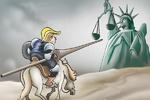 Karikatür: Özgürlüğe karşı seferberlik başlatan Donald Trump