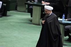 حسن روحانی در صحن مجلس