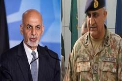 پاکستانی فوج کے سربراہ افغانستان پہنچ گئے