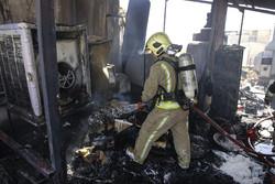 آتش سوزی در تولیدی لباس چهارراه ولیعصر