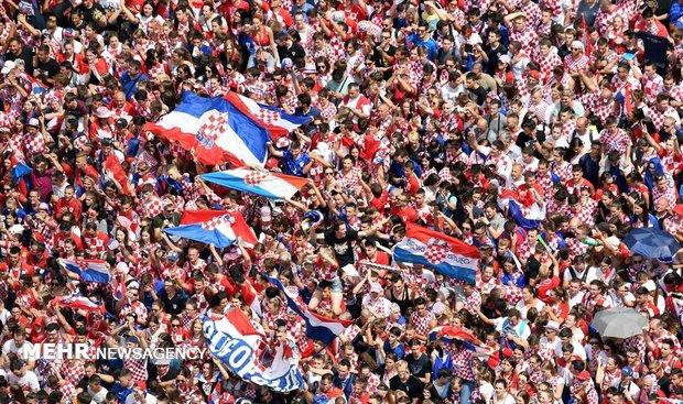 استقبال مردم کرواسی از تیم ملی کشورشان