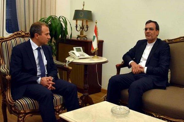 Iran's Jaberi Ansari holds talks with Lebanon's FM in Beirut